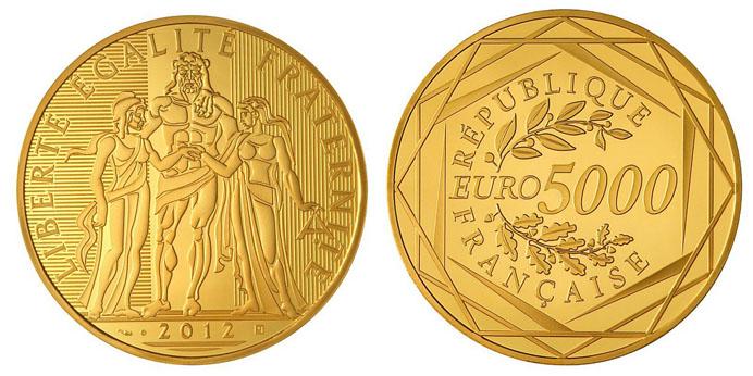 5000 euro or mise à l'échelle exacte