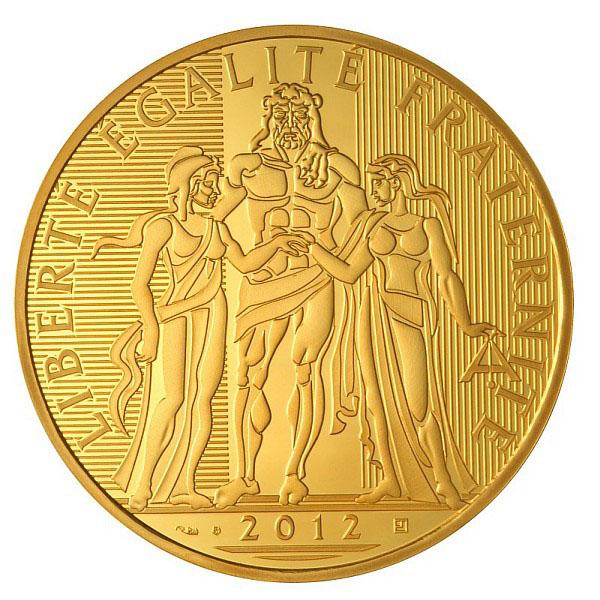 Photo de la pièce de 5000 euro or 2012 avers