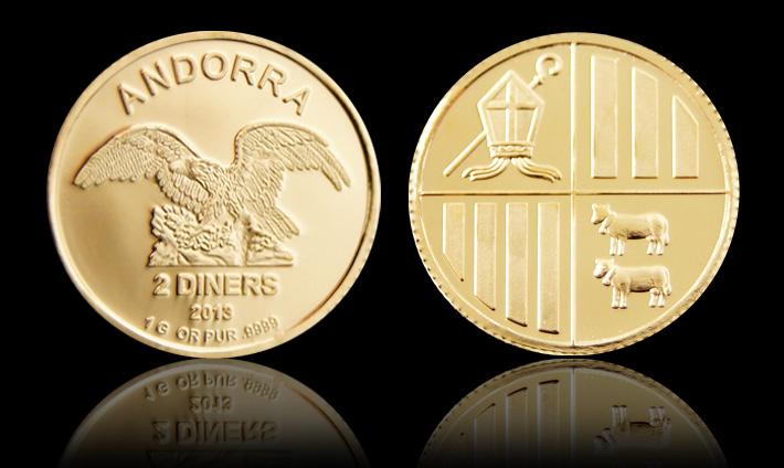 Exemple de pièces d'Andorre