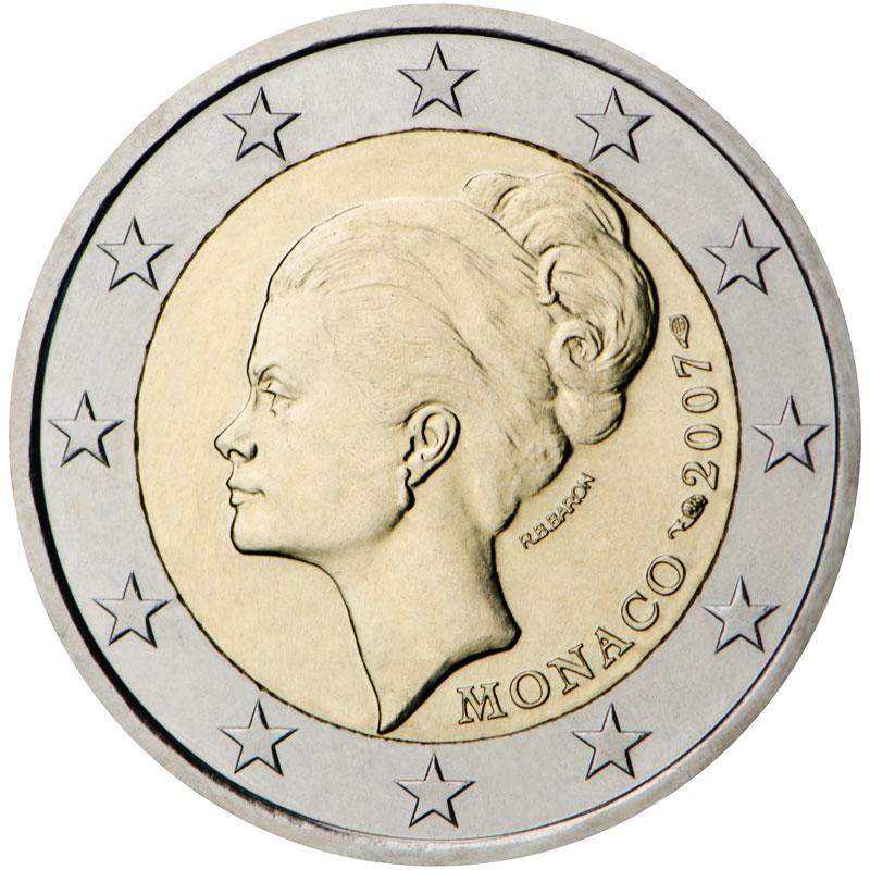 Pièce euro la plus rare : 2 euro Grace de Monaco