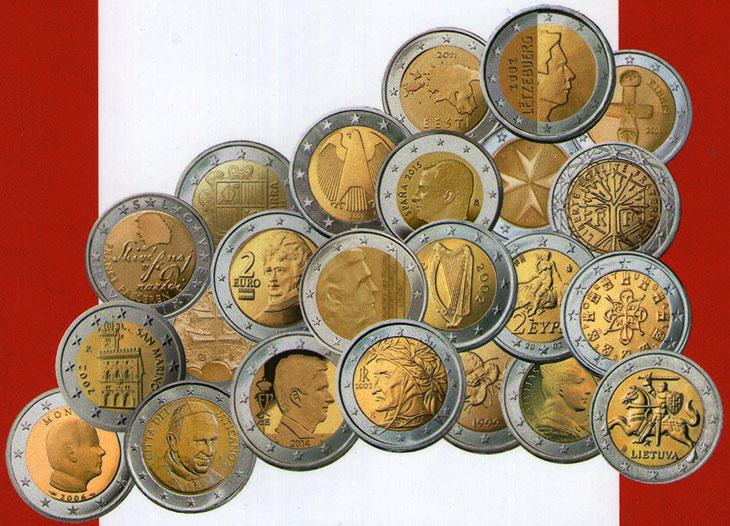 Photo de quelques pièces de 2 euro