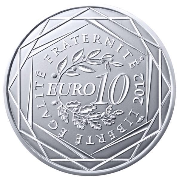 Face commune des euros des régions 2012