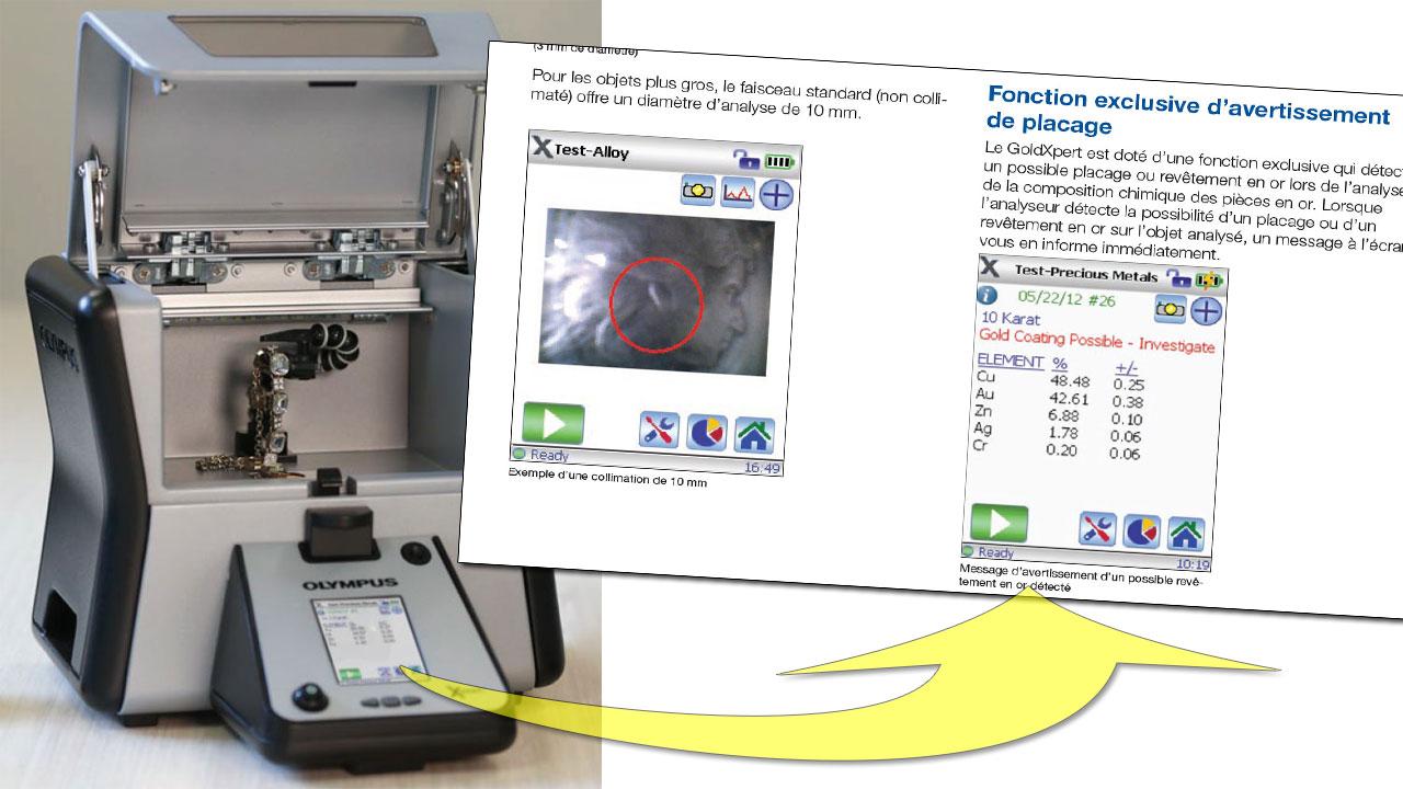 Un spectromètre donne avec une précision redoutable le contenu métallique des objets