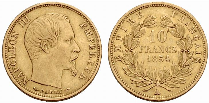 10 francs or petit module