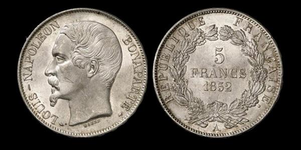 5 francs argent Louis Napoléon Bonaparte