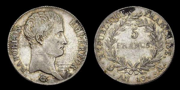 5 francs argent Napoléon Empereur