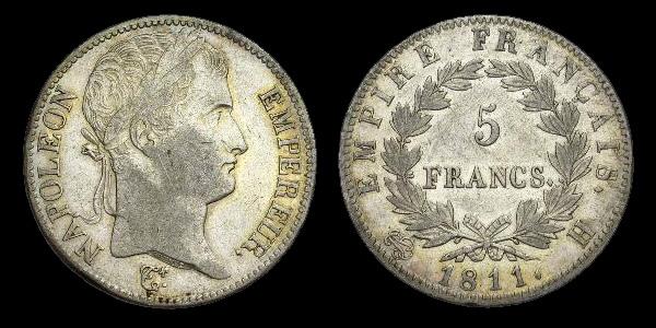5 francs argent Empire français