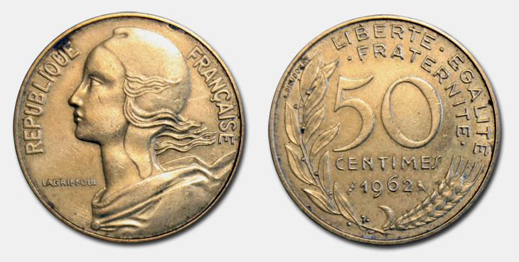 50 centimes Marianne 1962-1964