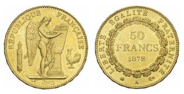 50 francs or Génie