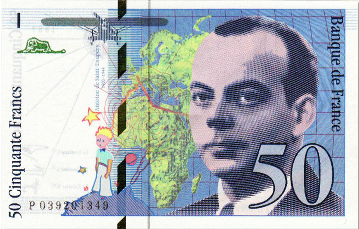 Billet de 50 francs Saint-Exupéry