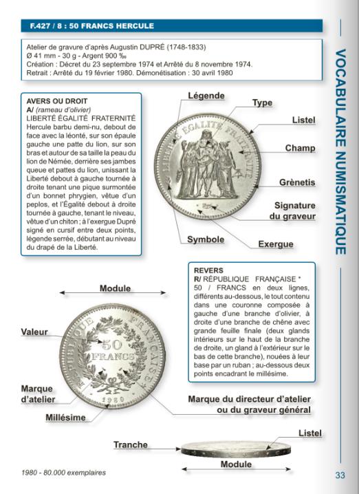 Présentation d'une page extraite de l'introduction du catalogue le Franc