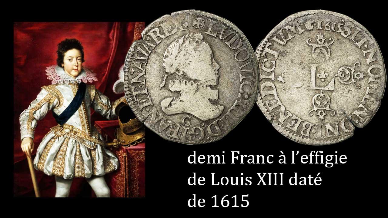 Demi franc à l'effigie de Louis XIII