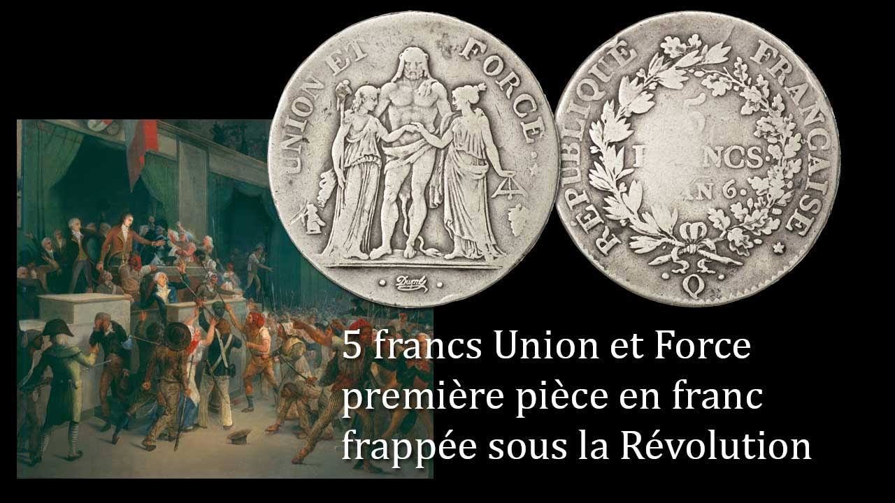 Photo de la pièce de 5 francs Union et Force