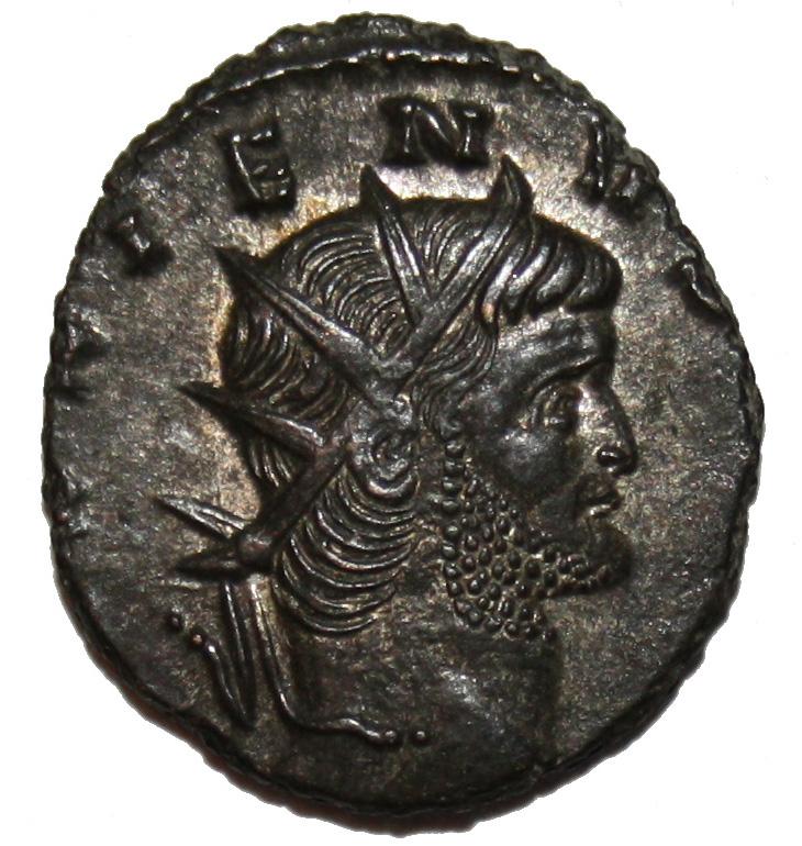 Portrait de Gallien sur une des monnaies en vente
