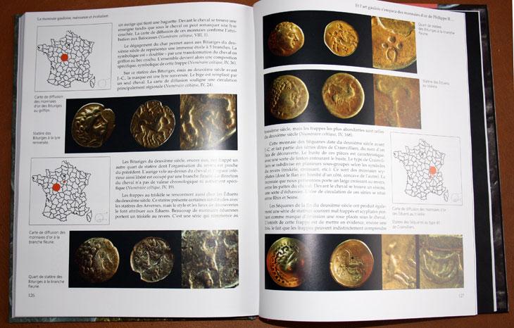 Exemple de pages du livre La monnaie gauloise