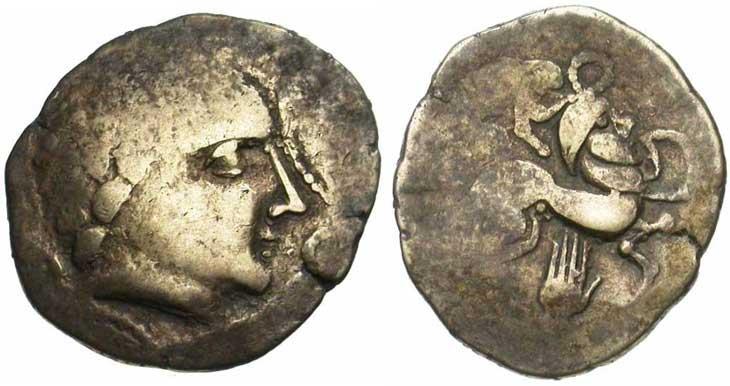 Monnaie gauloise : statère Picton