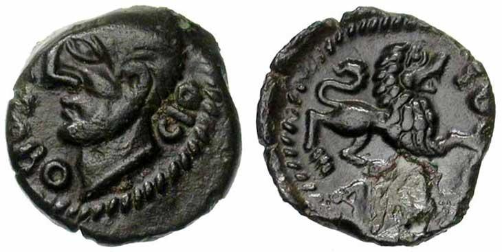 Monnaie gauloise : bronze Carnutes