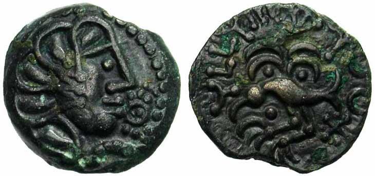Monnaie gauloise : bronze Senon
