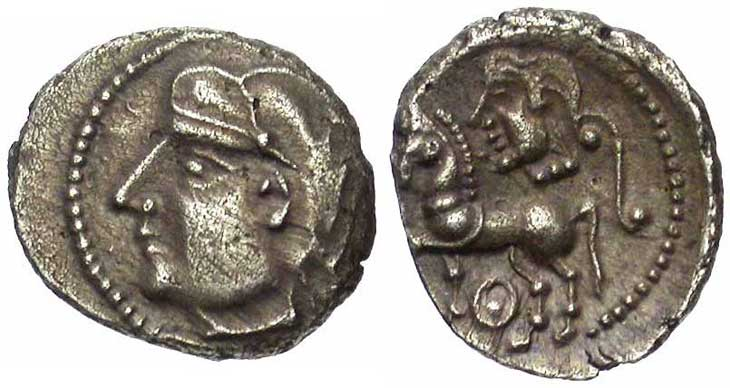 Monnaie gauloise : drachme Lemovices