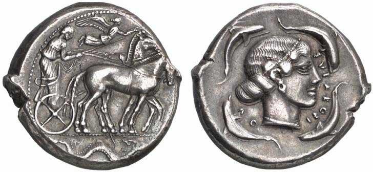 Monnaie grecque de Syracuse