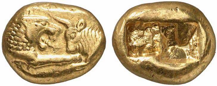 Monnaie grecque de Lydie : statère de Crésus