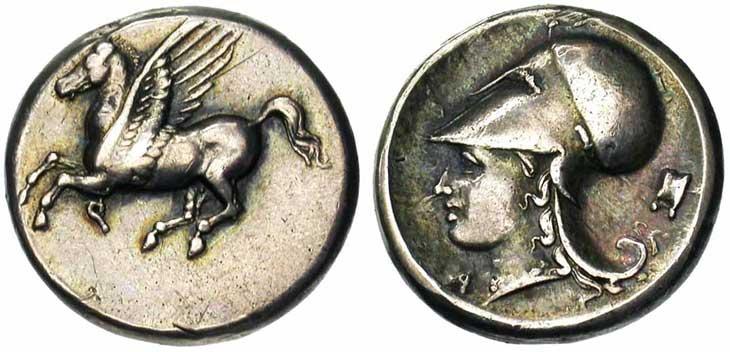 Monnaie grecque de Corinthe