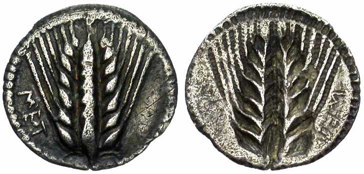 Monnaie grecque de Métaponte