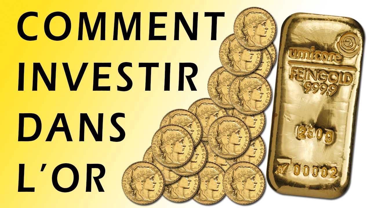 Image comment investir dans l'or