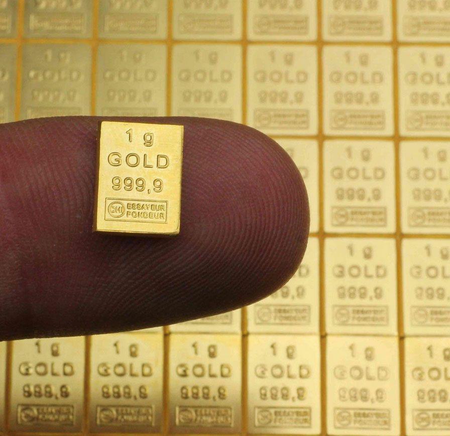 Lingots d'or pur d'une gramme