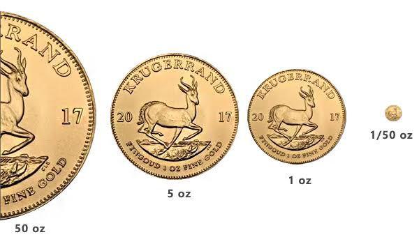 Photo des nouveaux Krugerrands d'or 2017 (multiples et divisionnaires)