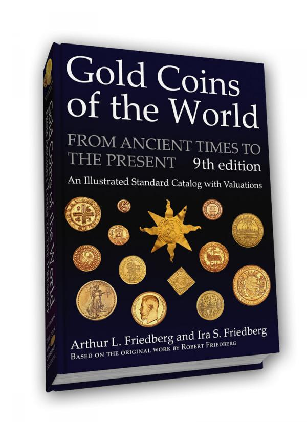 Couverture de la nouvelle édition du Livre 'Gold Coins of the World'