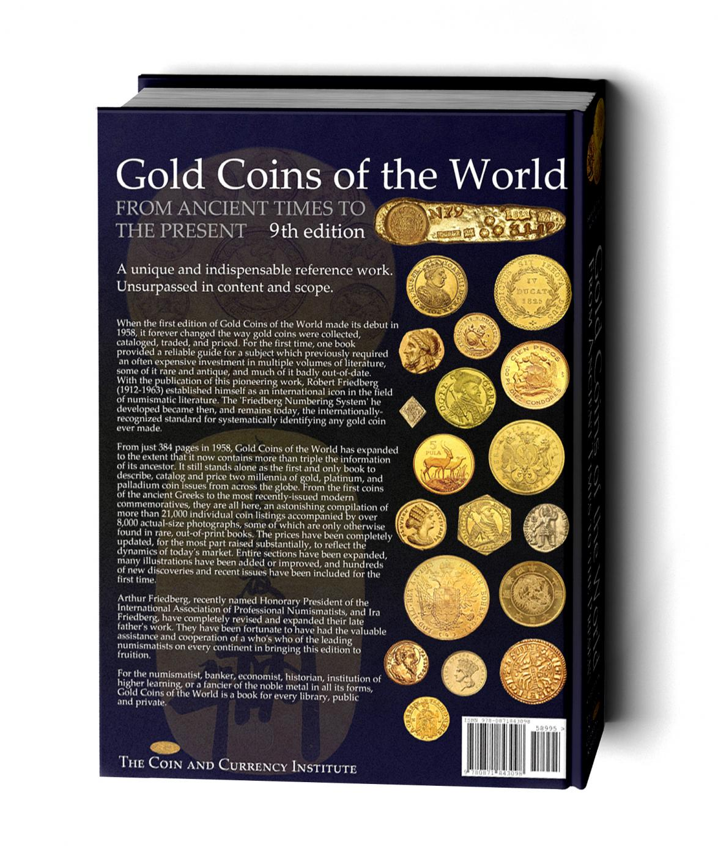Photo du dos du livre 'World Gold coins of the world'