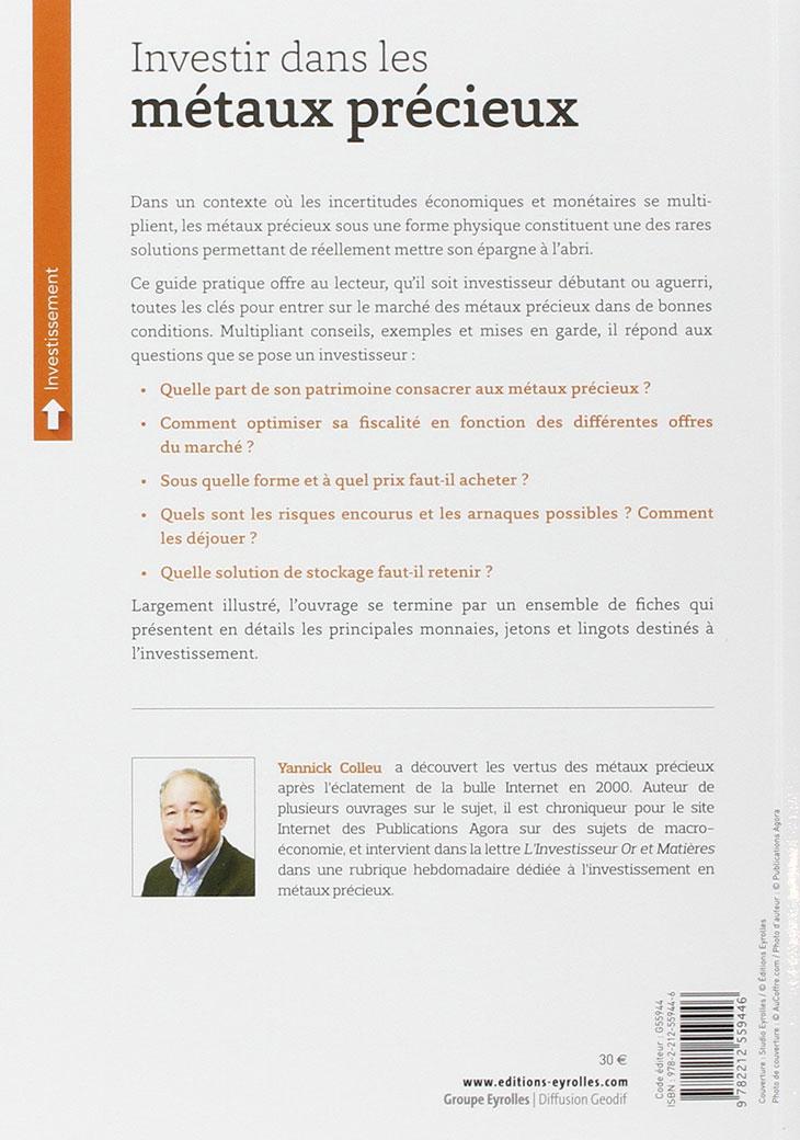 Résumé livre fiscalité des métaux précieux
