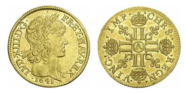 Louis d'or de Louis XIII 1641