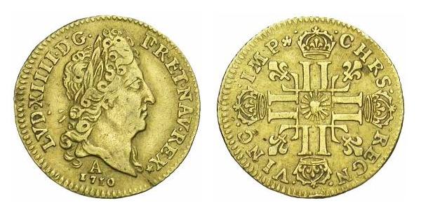 Louis d'or de Louis XIV 1710