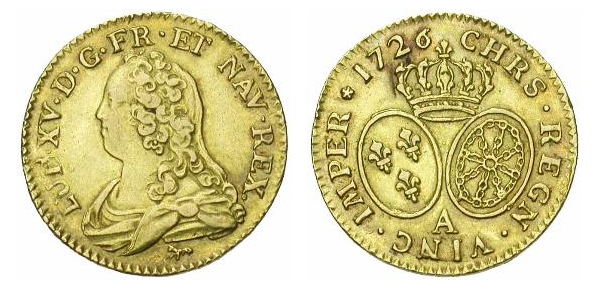 Louis d'or de Louis XV 1726