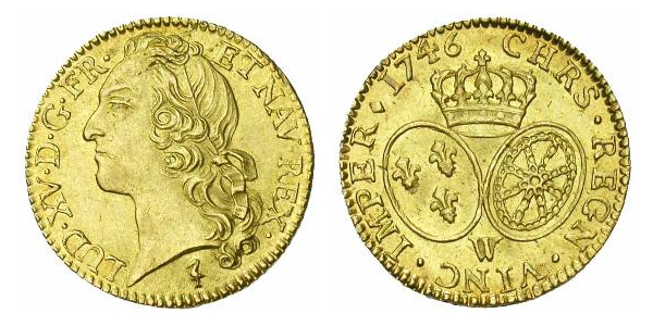 Double Louis d'or de Louis XV 1746