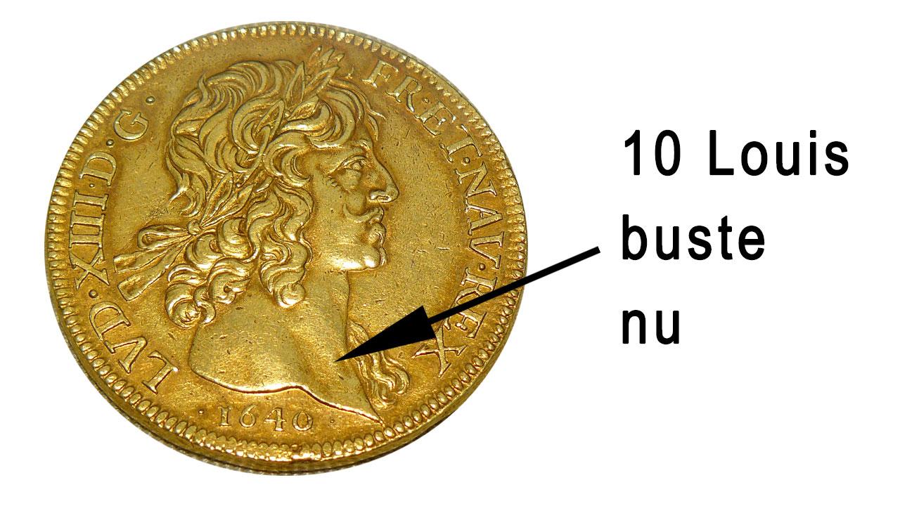 Pièce d'or de 10 Louis au buste nu
