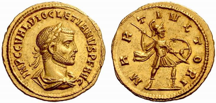 Mars sur une monnaie de Dioclétien