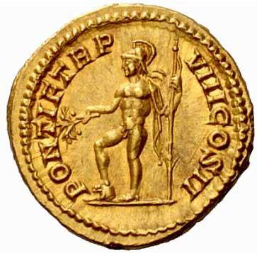 Mars sur une monnaie de Caracalla