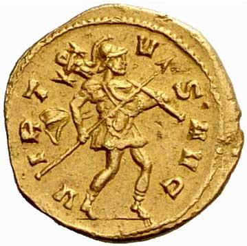 Mars sur une monnaie de Claude II Le Gothique