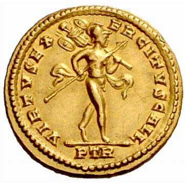 Mars sur une monnaie de Constantin I