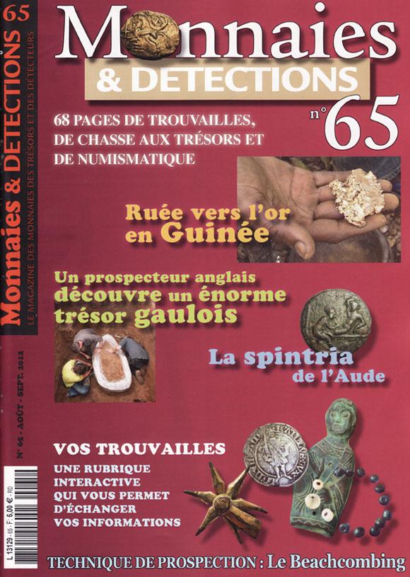 Monnaies et détections 65 août septembre 2012 couverture du magazine