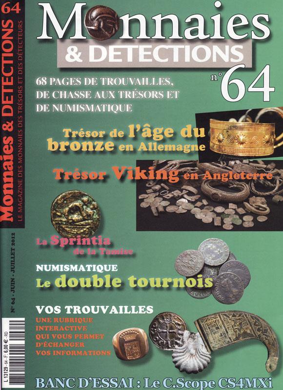 Monnaies et détections 64 juin juillet 2012 couverture du magazine