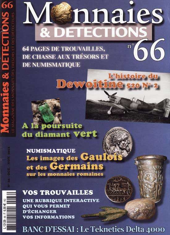 Monnaies et détections 66 octobre-novembre 2012 couverture du magazine