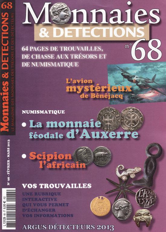 Monnaies et détections 68 février 2013 couverture du magazine