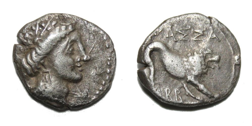 Monnaie gauloise Drachme de Marseille ou tétrobole