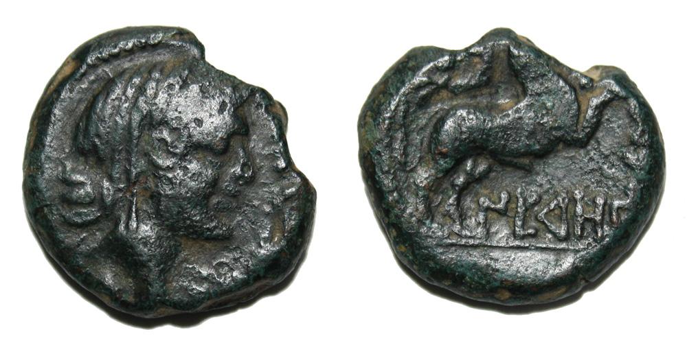 Monnaie gauloise Bronze au taureau des Nédènes (Narbonne)