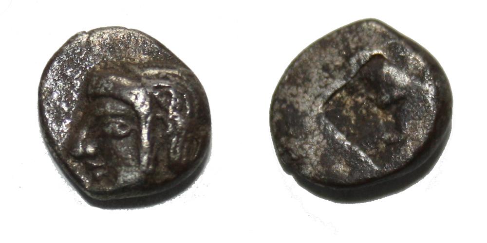 Monnaie gauloise MARSEILLE Litra du type du trésor d'Auriol à la tête d'Athéna Rare !