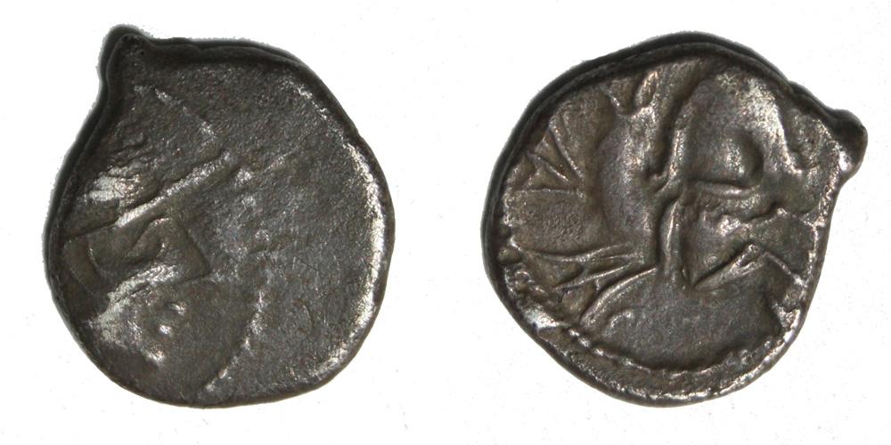 Monnaie gauloise Allobroges denier à l'hippocampe